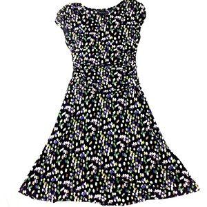 EnFocus Printed wrap dress size 6 knee length